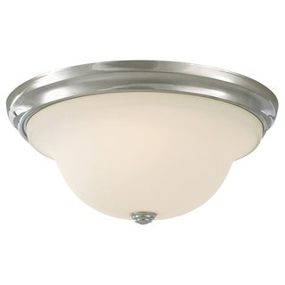 3-light Chrome Indoor Flush Mount