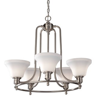 Cumberland 5-light Brushed Steel Chandelier