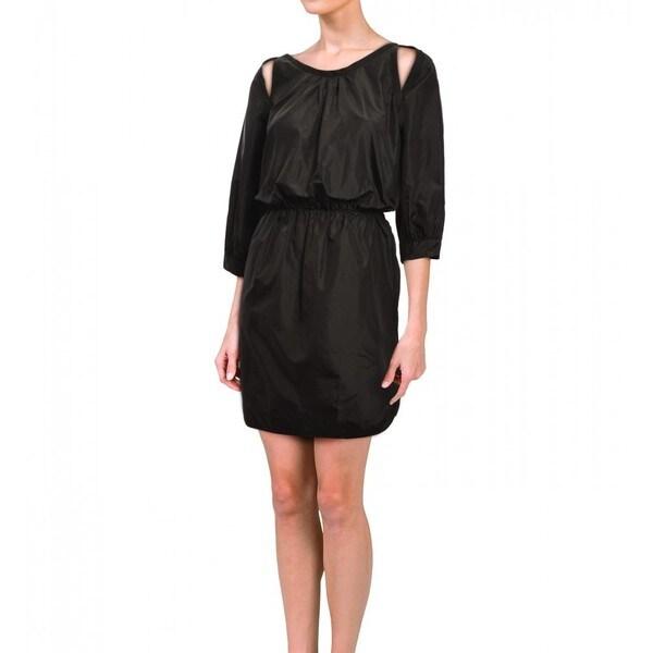 Cynthia Rowley Women's Black Silk Taffeta Relaxed Dress