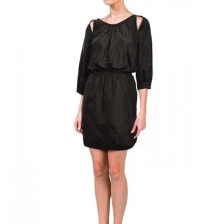 Cynthia Rowley Women's Black Silk Taffeta Relaxed Dress