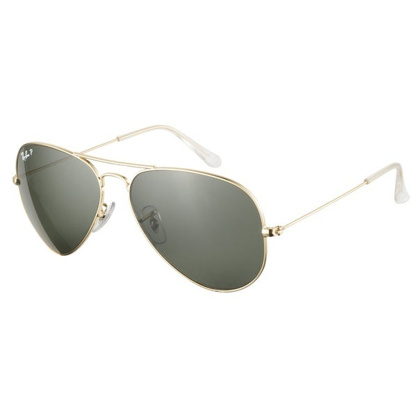 Ray-Ban RB3025 001 58 Aviator Gold Green Polarized 58 Sunglasses