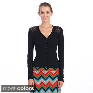 Women's Lace-back Cardigan