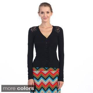 Hadari Women's Lace-back Cardigan