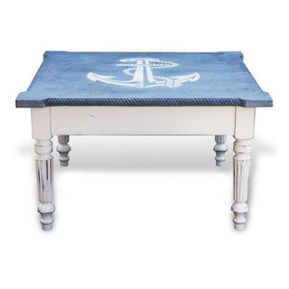 Nautical Old World Alder Wood Coffee Table