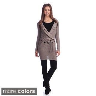 Hadari Women's Shutter-pleated Tunic Sweater