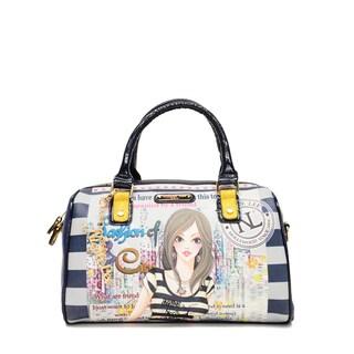 Nicole Lee 'Dolly' City Girl Print Boston Bag