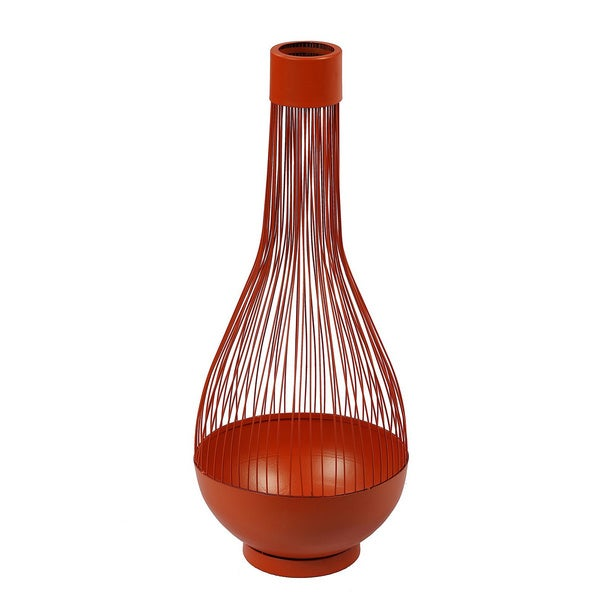 Orange Wire-frame Mordern Vase
