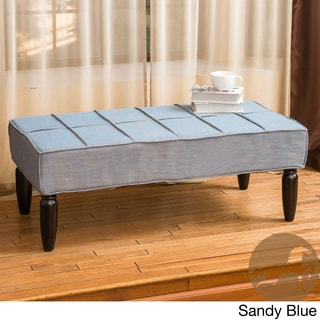 Christopher Knight Home Aida Piping Fabric Ottoman Bench