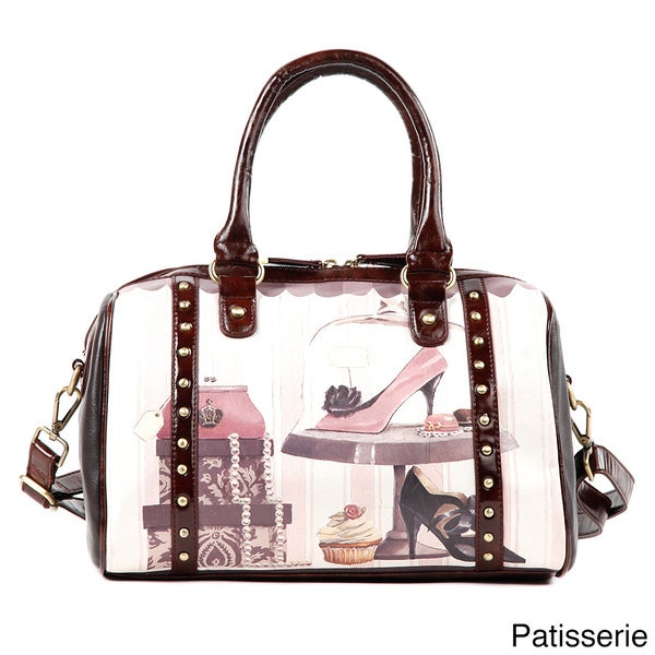 Nicole Lee Gitana Vintage Print Boston Bag