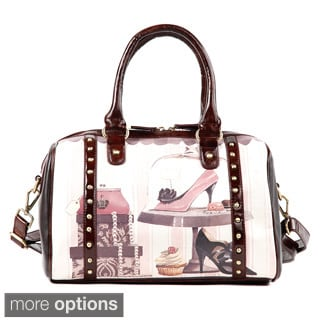 Nicole Lee 'Gitana' Vintage Print Boston Bag