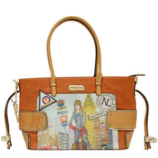 Nicole Lee 'Mia' City Girl Print Shoulder Bag