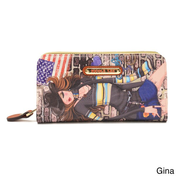 Nicole Lee 'Muneca' City Girl Print Wallet