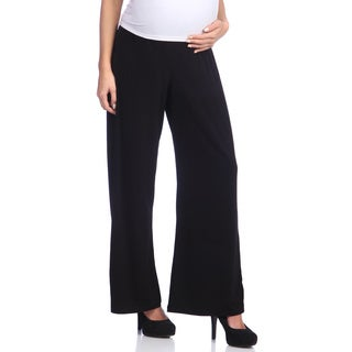 Ashley Nicole Maternity Women's Black Jersey Wide Leg Pants