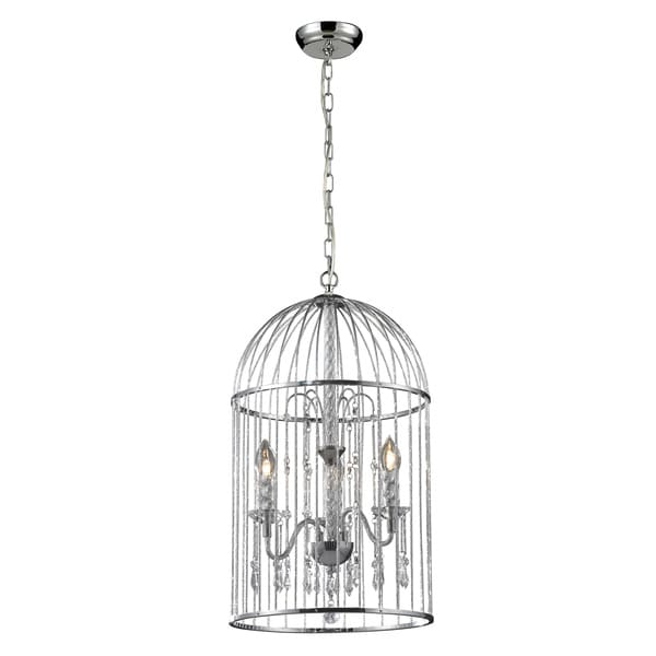 Avary 3-light Chrome Cage Chandelier