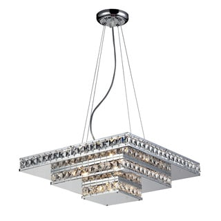 Ariel 5-light Chrome and Crystal Square Chandelier