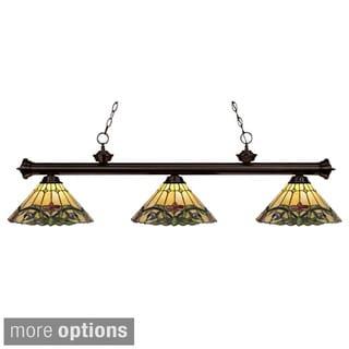 Riviera Tiffany Style Bronze Billiard Light Fixture