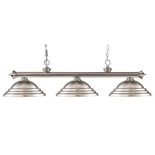 Riviera 3-light Brushed Nickel Billiard Light Fixture