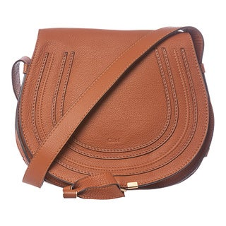 Chloe 'Marcie' Medium Tan Leather Round Crossbody
