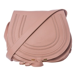 Chloe 'Marcie' Medium Dusty Pink Leather Round Crossbody
