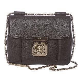 Chloe 'Elsie' Small Black Grained Leather Crossbody
