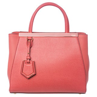 Fendi '2Jours' Petite Pink Leather Shopper Bag