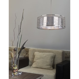 Z-Lite 'Saatchi' Brushed Nickel and Chrome 6-light Pendant