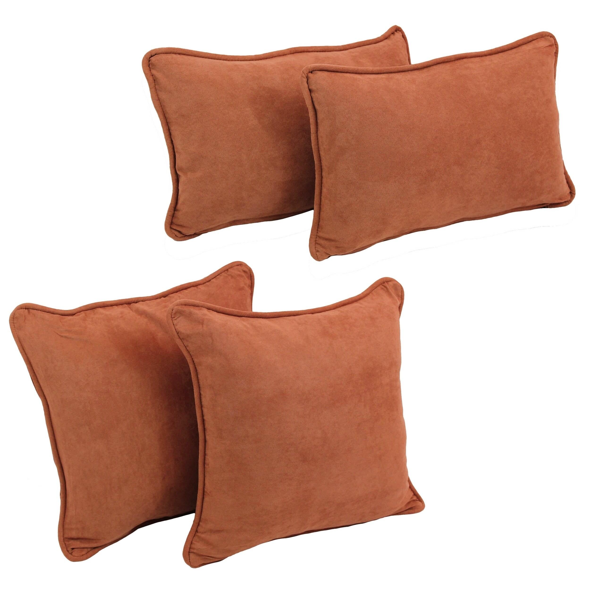 Set of Blazing Needles Delaney Microsuede Throw Pillow Set
