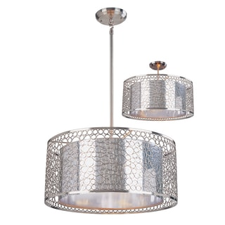 Saatchi 5-light Brushed Nickel/ Chrome Pendant
