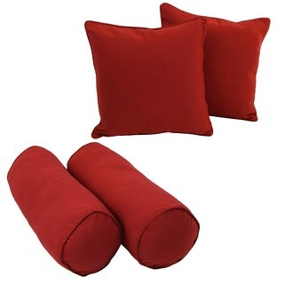 Blazing Needles Twill Throw Pillows (Set of 4)