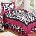 Sweet Jojo Designs Girls 'Funky Zebra' 3-piece Full/Queen Comforter Set