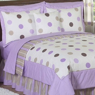 Sweet Jojo Designs Girls 'Dots' 3-piece Full/Queen Comforter Set
