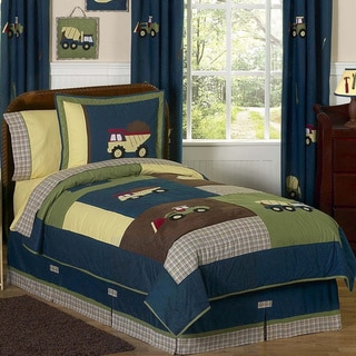 Sweet Jojo Designs Boys 'Construction Zone' 3-piece Full/Queen Comforter Set
