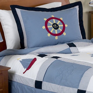 Sweet Jojo Designs Boys 'Come Sail Away' 3-piece Full/Queen Comforter Set
