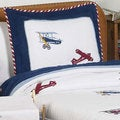 Sweet Jojo Designs Boys 'Vintage Aviator' 3-piece Full/Queen Comforter Set