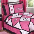 Sweet Jojo Designs Girls 'Pink Soccer' 4-piece Twin Comforter Set