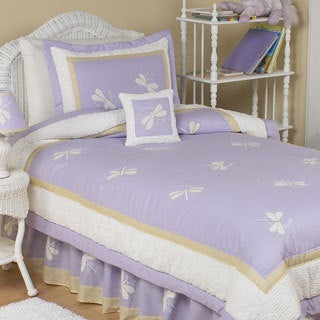 Sweet Jojo Designs Girls 'Dragonfly Dreams' 4-piece Twin Comforter Set
