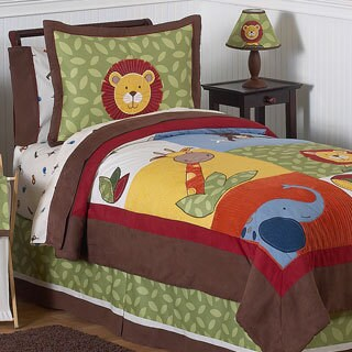 Sweet Jojo Designs Boys 'Jungle Time' 4-piece Twin Comforter Set