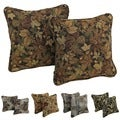 Blazing Needles Floral Collection Corded Tapestry Removable Insert Pillow (Set of 2)
