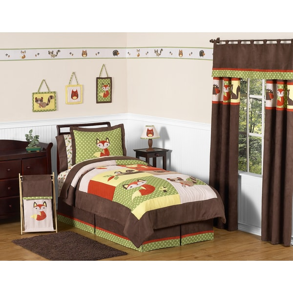 Sweet Jojo Designs 4-piece Woodland Forest Animals Comforter Set