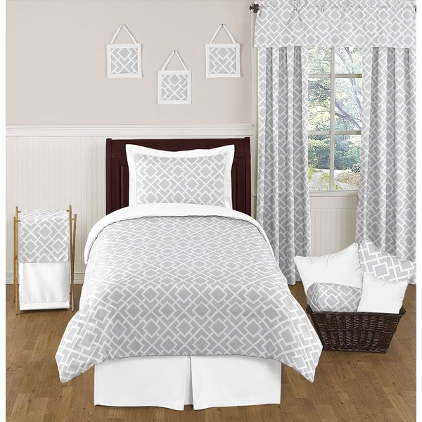 Sweet Jojo Designs 4-piece Diamond Childrens Comforter Set