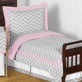 Sweet Jojo Designs Girl 5-piece Chevron Zig Zag Toddler Comforter Set
