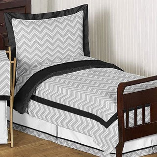 Sweet Jojo Designs Unisex 5-piece Chevron Zig Zag Toddler Comforter Set