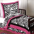 Sweet Jojo Designs Girls 5-piece Hot Pink Zebra Toddler Comforter Set