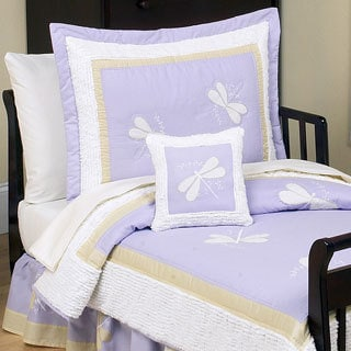 Sweet Jojo Designs Girl Purple Dragonfly Toddler 5-piece Comforter Set