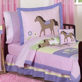 Sweet Jojo Designs Girl 5-piece Pony Horse Toddler Comforter Set