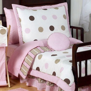 Sweet Jojo Designs Girl 5-piece Polka Dots Toddler Comforter Set