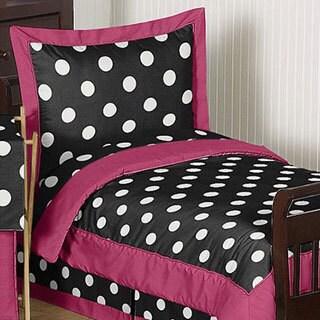 Sweet Jojo Designs Girl 5-piece Hot Dot Toddler Comforter Set