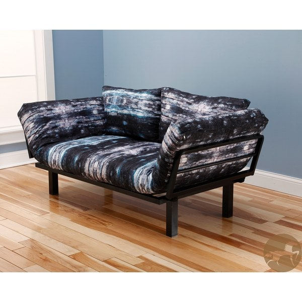 Christopher Knight Home Multi-Flex Black Metal Daybed/Lounger with Snake Skin Mattress and Pilllows Set