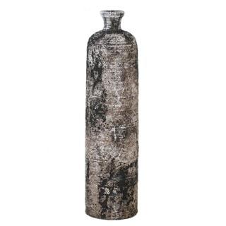 Tall Grey/ Multi Ceramic Vase