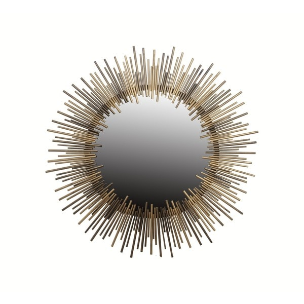 Round Gold Iron Mirror